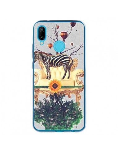 Coque Huawei P20 Lite Zebre The World - Eleaxart