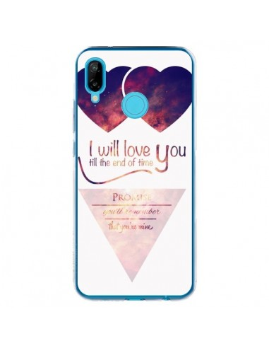 Coque Huawei P20 Lite I will love you until the end Coeurs - Eleaxart