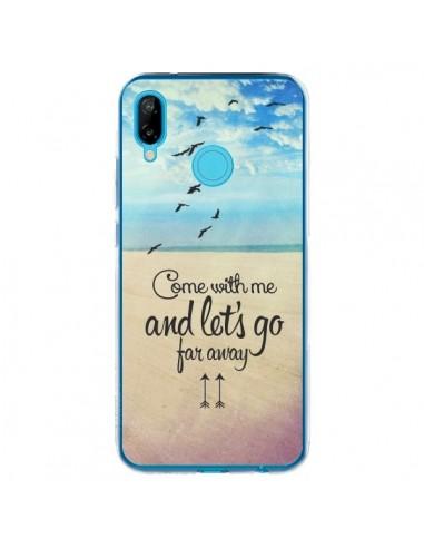 Coque Huawei P20 Lite Let's Go Far Away Beach Plage - Eleaxart