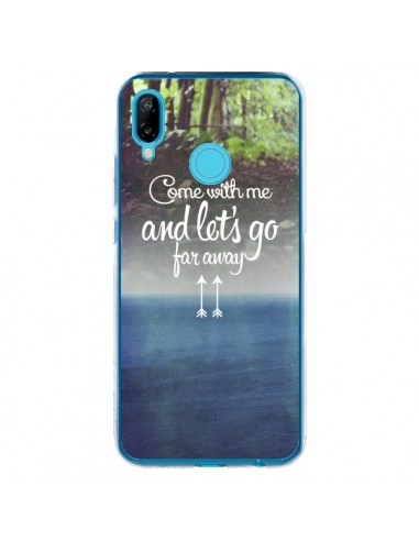 Coque Huawei P20 Lite Let's Go Far Away Forest Foret - Eleaxart