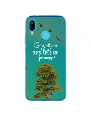 Coque Huawei P20 Lite Let's Go Far Away Tree Arbre - Eleaxart