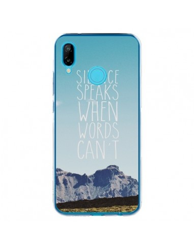 Coque Huawei P20 Lite Silence speaks when words can't paysage - Eleaxart