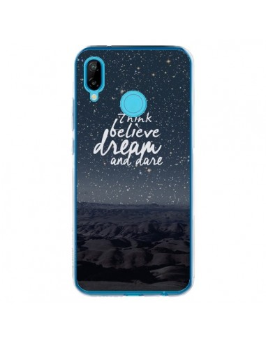 Coque Huawei P20 Lite Think believe dream and dare Pensée Rêves - Eleaxart