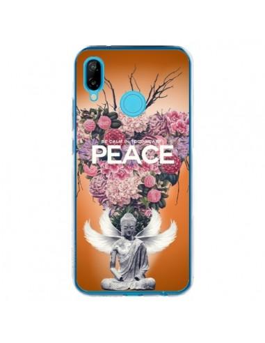 Coque Huawei P20 Lite Peace Fleurs Buddha - Eleaxart