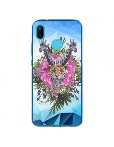 Coque Huawei P20 Lite Girafes Lion Tigre Jungle - Eleaxart