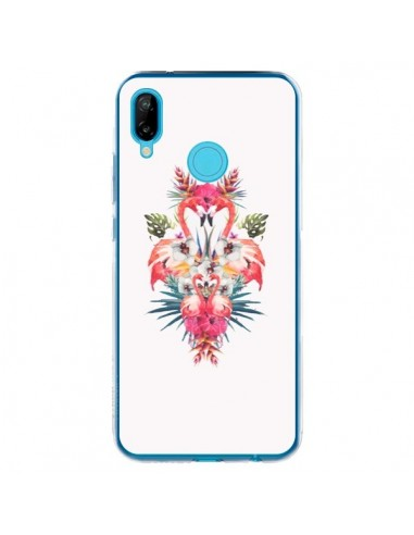 Coque Huawei P20 Lite Tropicales Flamingos Tropical Flamant Rose Summer Ete - Eleaxart