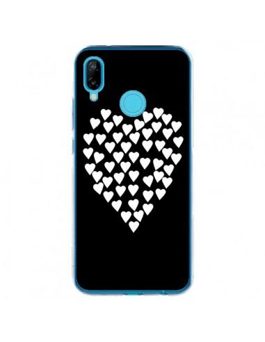Coque Huawei P20 Lite Coeur en coeurs blancs - Project M
