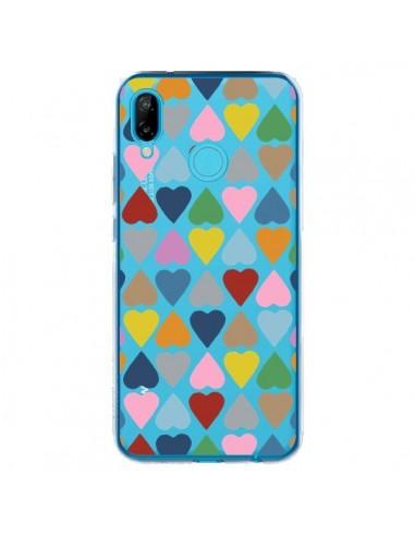 Coque Huawei P20 Lite Coeurs Heart Couleur Transparente - Project M