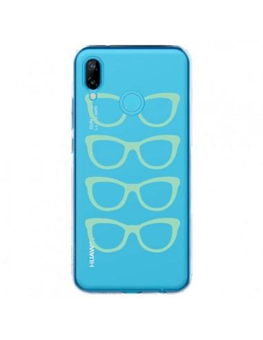Coque Huawei P20 Lite Sunglasses Lunettes Soleil Mint Bleu Vert Transparente - Project M