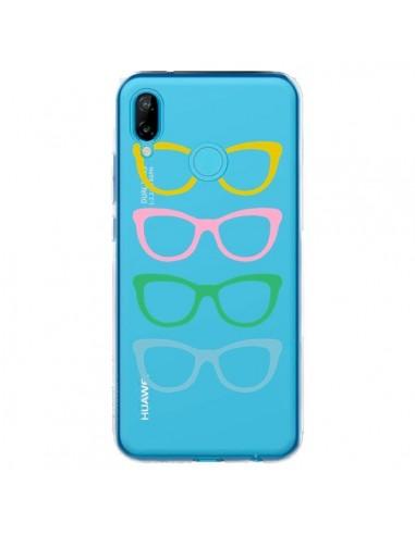 Coque Huawei P20 Lite Sunglasses Lunettes Soleil Couleur Transparente - Project M