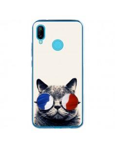 Coque Huawei P20 Lite Chat à lunettes françaises - Gusto NYC
