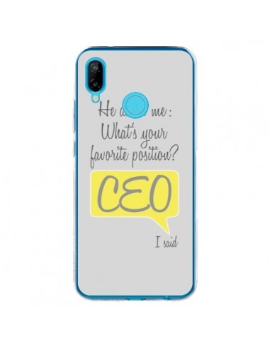 Coque Huawei P20 Lite What's your favorite position CEO I said, jaune - Shop Gasoline
