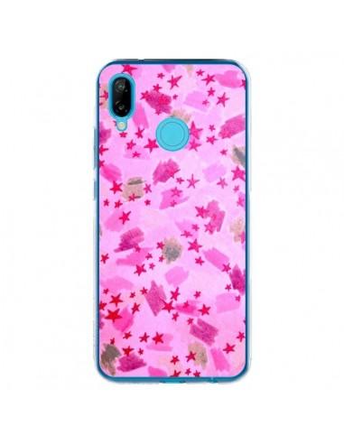 Coque Huawei P20 Lite Stars Etoiles Roses - Ebi Emporium
