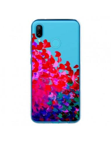 Coque Huawei P20 Lite Creation in Color Pink Rose Transparente - Ebi Emporium