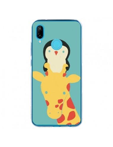 Coque Huawei P20 Lite Girafe Pingouin Meilleure Vue Better View - Jay Fleck
