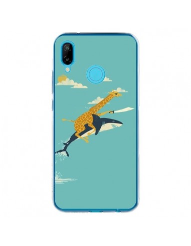 Coque Huawei P20 Lite Girafe Epee Requin Volant - Jay Fleck