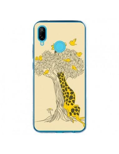 Coque Huawei P20 Lite Girafe Amis Oiseaux - Jay Fleck
