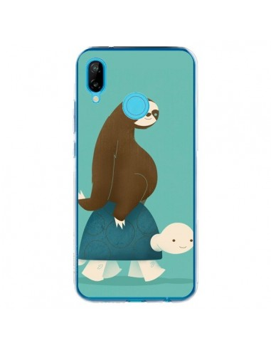 Coque Huawei P20 Lite Tortue Taxi Singe Slow Ride - Jay Fleck
