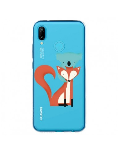 Coque Huawei P20 Lite Renard et Koala Love Transparente - Jay Fleck