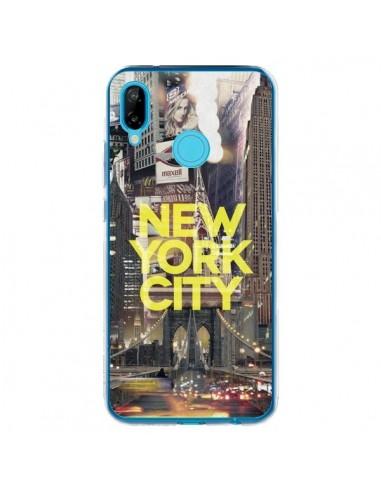 Coque Huawei P20 Lite New York City Jaune - Javier Martinez