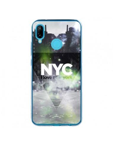 Coque Huawei P20 Lite I Love New York City Vert - Javier Martinez