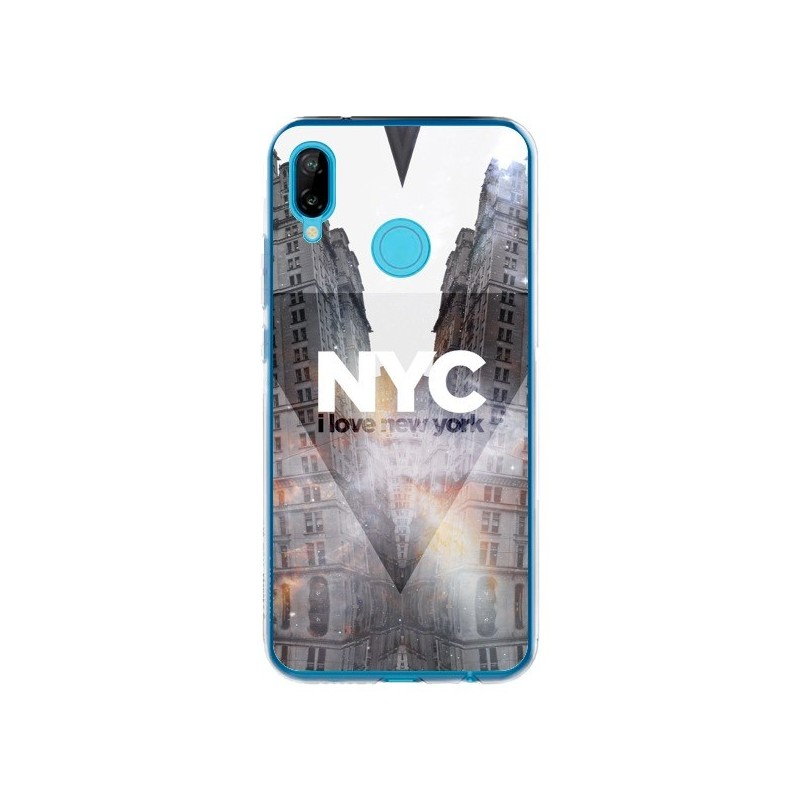 Coque Huawei P20 Lite I Love New York City Orange - Javier Martinez