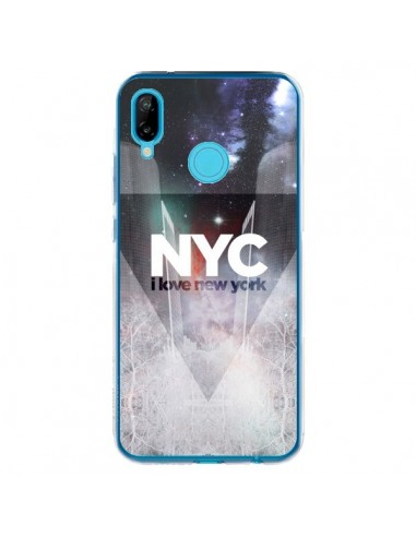 Coque Huawei P20 Lite I Love New York City Bleu - Javier Martinez
