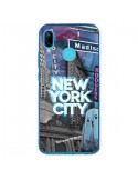 Coque Huawei P20 Lite New York City Buildings Bleu - Javier Martinez