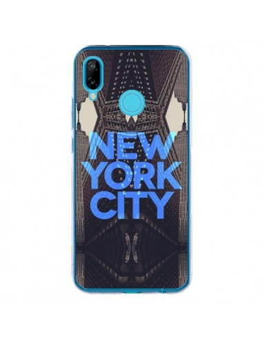 Coque Huawei P20 Lite New York City Bleu - Javier Martinez