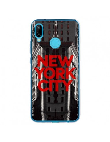 Coque Huawei P20 Lite New York City Rouge - Javier Martinez
