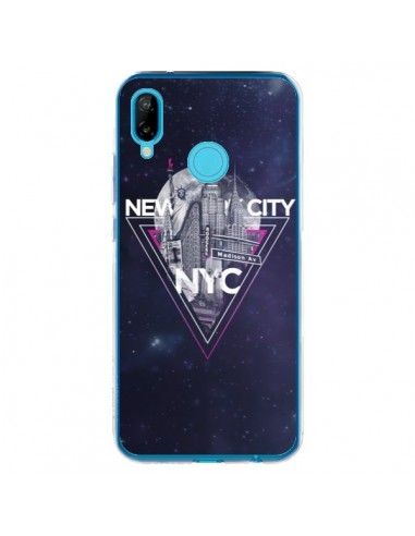 Coque Huawei P20 Lite New York City Triangle Rose - Javier Martinez