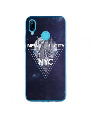 Coque Huawei P20 Lite New York City Triangle Bleu - Javier Martinez