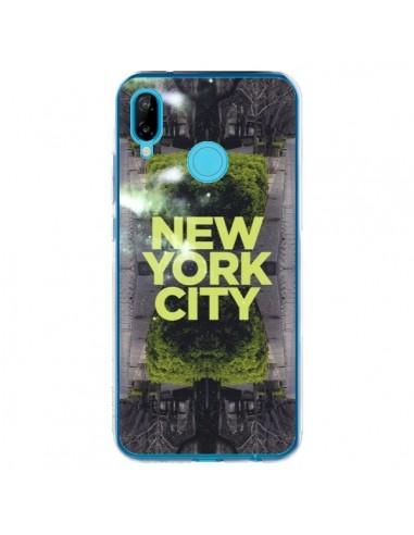 Coque Huawei P20 Lite New York City Vert - Javier Martinez