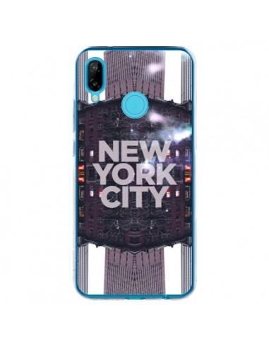 Coque Huawei P20 Lite New York City Violet - Javier Martinez