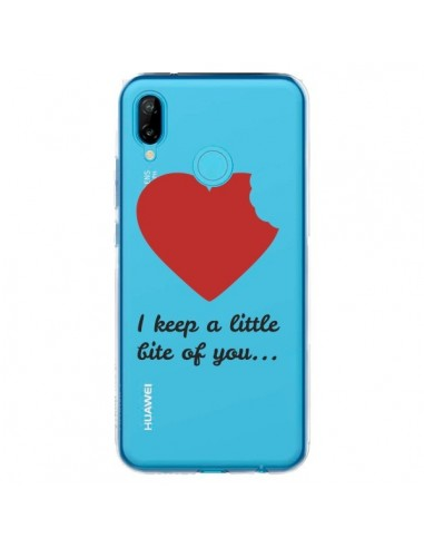Coque Huawei P20 Lite I keep a little bite of you Love Heart Amour Transparente - Julien Martinez