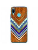 Coque Huawei P20 Lite Azteque Arbutus Blue Bois Aztec Tribal - Jenny Mhairi