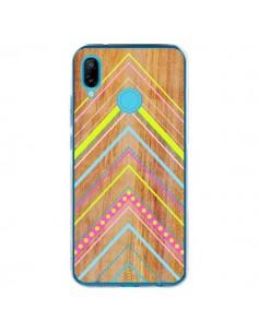Coque Huawei P20 Lite Wooden Chevron Pink Bois Azteque Aztec Tribal - Jenny Mhairi