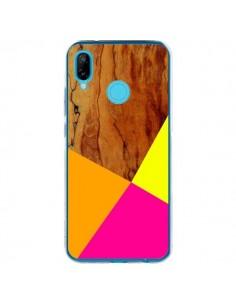 Coque Huawei P20 Lite Wooden Colour Block Bois Azteque Aztec Tribal - Jenny Mhairi