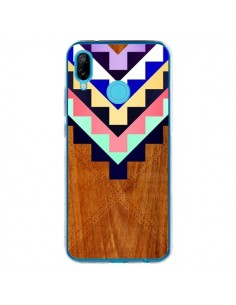 Coque Huawei P20 Lite Wooden Tribal Bois Azteque Aztec Tribal - Jenny Mhairi