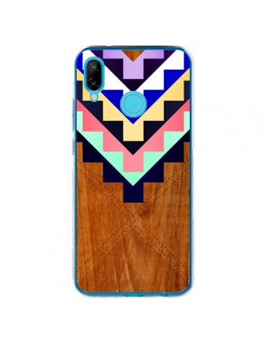 Coque Huawei P20 Lite Wooden Tribal Bois Azteque Aztec Tribal - Jenny Mhairi