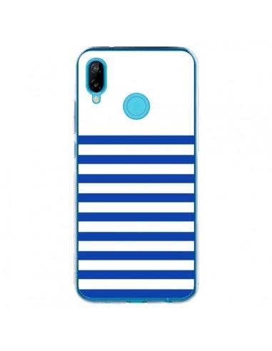 Coque Huawei P20 Lite Mariniere Bleu - Jonathan Perez