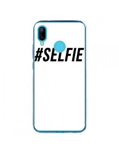 Coque Huawei P20 Lite Hashtag Selfie Noir Vertical - Jonathan Perez