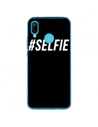 Coque Huawei P20 Lite Hashtag Selfie Blanc Vertical - Jonathan Perez