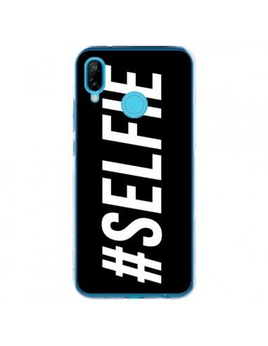 Coque Huawei P20 Lite Hashtag Selfie Noir Horizontal - Jonathan Perez