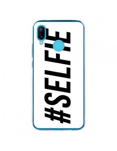 Coque Huawei P20 Lite Hashtag Selfie Blanc Horizontal - Jonathan Perez