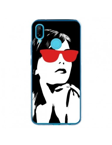 Coque Huawei P20 Lite Fille Lunettes Rouges - Jonathan Perez