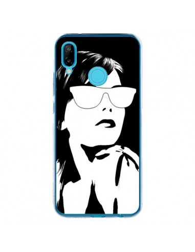 Coque Huawei P20 Lite Fille Lunettes Blanches - Jonathan Perez