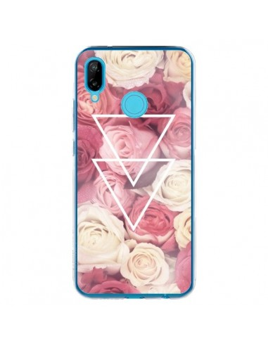 Coque Huawei P20 Lite Roses Triangles...