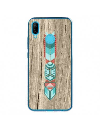 Coque Huawei P20 Lite Totem Tribal Azteque Bois Wood - Jonathan Perez