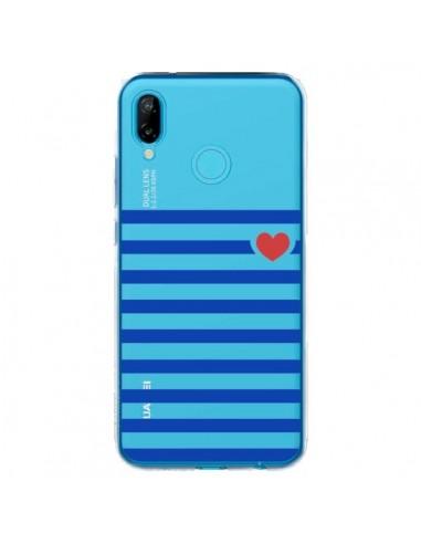 Coque Huawei P20 Lite Mariniere Coeur Love Transparente - Jonathan Perez